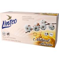 LINTEO Papierové vreckovky 4-vrstvové Balzam + olej BOX 70 ks