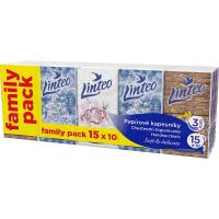 LINTEO Papierové vreckovky 3- vrstvové 15x10 ks