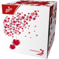 LINTEO Papierové vreckovky 3-vrstvové BOX Love 60 ks
