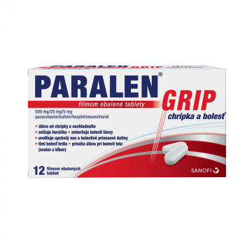 PARALEN GRIP chrípka a bolesť 12 tabliet