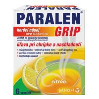 PARALEN GRIP horúci nápoj citrón 650mg/10mg 6 vreciek 31.10.2021