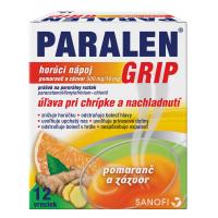 PARALEN GRIP horúci nápoj pomaranč a zázvor prášok na perorálny roztok 500 mg/10 mg 12 vrecúšok