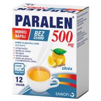 PARALEN Horúci nápoj bez cukru 500 mg prášok na perorálny roztok 12 vrecúšok