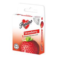PEPINO prezervatívy kondómy jahoda 3 kusy