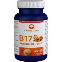 PHARMA ACTIV Amygdalin Forte vitamín B17 45 +15 tabliet ZADARMO