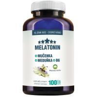 PHARMA ACTIV Melatonín Mučenka Medovka + B6 100 tabliet