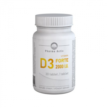PHARMA ACTIV Vitamín D3 forte 2000 IU 30 tabliet