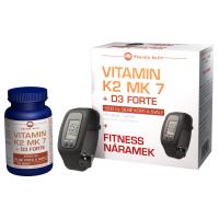 PHARMA ACTIV Vitamín K2 MK 7 + D3 Forte 125 tabliet + FITNESS náramok s krokomerom