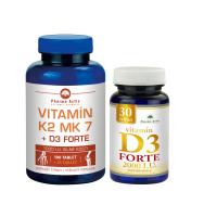 PHARMA ACTIV Vitamín K2 MK7+D3 Forte 125 tabliet + Vitamín D3 Forte 2000 I.U. 30 tabliet