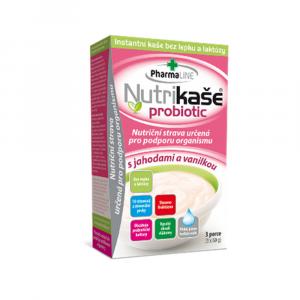 PHARMALINE Nutrikaša probiotic S jahodou a vanilkou 3x60 g