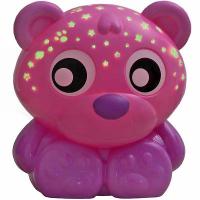 PLAYGRO uspávacia lampička medvedík s projektorom – ružový