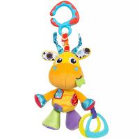 PLAYGRO Závesná žirafa s hryzátkami
