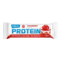 MAXSPORT Proteínová tyčinka s príchuťou jahôd 60 g