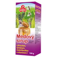 PURUS MEDA Medový sirup skorocel + tymián + materina dúška + vitamín C 100 g
