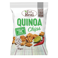 EAT REAL Quinoa Chips s chilli a limetkou 30 g BEZ lepku