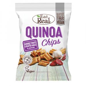 EAT REAL Quinoa Chips paradajka a cesnak 30 g BEZ lepku
