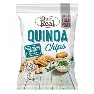 EAT REAL Quinoa Chips smotana a pažítka 80 g BEZ lepku