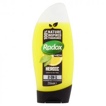 RADOX Men Lemon + Tea Tree sprchový gel 250 ml