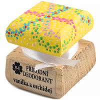 RAE Prírodný krémový dezodorant vanilka orchidea farebná krabička 15 ml