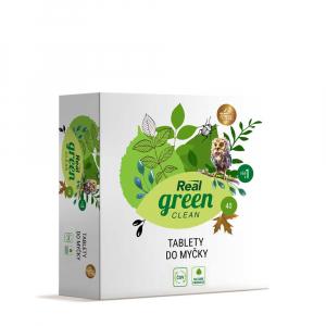 REAL GREEN CLEAN Tablety do umývačky 40 ks