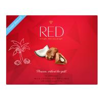 RED Bonboniéra bez pridaného cukru pralinky s kokosovou náplňou 132 g