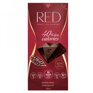 RED Extra horká čokoláda 60% kakaa bez pridaného cukru 100 g