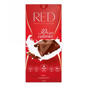 RED Mliečna čokoláda bez pridaného cukru 100 g