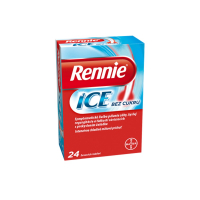 RENNIE Ice bez cukru 24 žuvacích tabliet