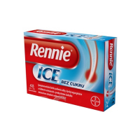 RENNIE ICE bez cukru 2x24 žuvacích tabliet