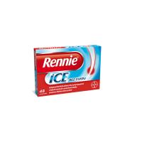 RENNIE ICE bez cukru 48 žuvacích tabliet