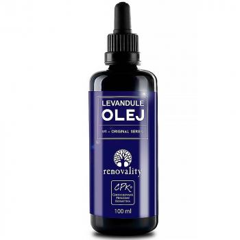 RENOVALITY Telový a masážny olej Levanduľa 100 ml s pipetkou