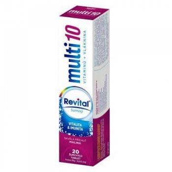 REVITAL Multi Malina šumivé tablety 20 ks