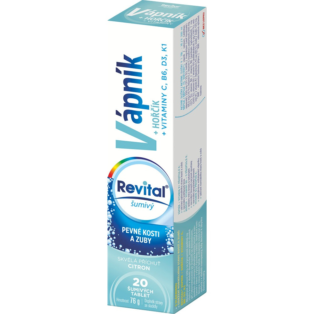 VITAR Revital Ca + Mg + vitamíny 20 šumivých tabliet