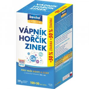 VITAR Revital Vápník, Hořčík, Zinok + D3 + K1 150 tabliet