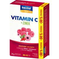 REVITAL vitamín C + zinok + echinacea + šípka 45 tabliet