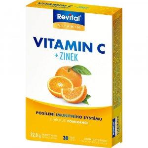 REVITAL Vitamín C + Zinok 30 tabliet