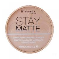 Rimmel London Stay Matte Long Lasting Pressed Powder 14g odtieň 009 Amber