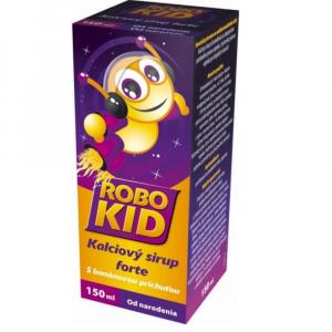 RoboKid Kalciový sirup forte s banánovou príchuťou 150 ml
