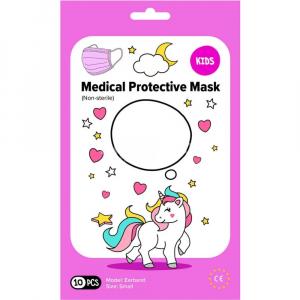 MEDICAL Jednorazové detské tvárové rúško 10 kusov, ružové