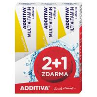 ADDITIVA sada multivitamín 2+1 mandarínka šumivé tablety 3x20 ks