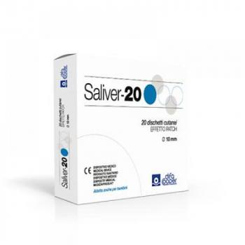 Saliver-20 Přilnavé náplasti + obvazy na bradavice 20 kusů