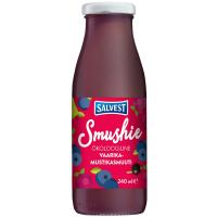 SALVEST Smushie BIO Ovocné smoothie s čučoriedkami, malinami a čiernymi ríbezľami 240 ml