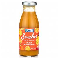 SALVEST Smushie BIO Ovocné smoothie s mangom, ananásom a pomarančovou dužinou 240 ml