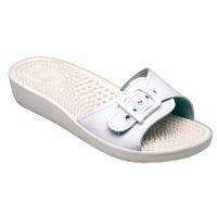 SANTÉ Dámske šľapky biele 1 pár, Veľkosť obuvi: 36