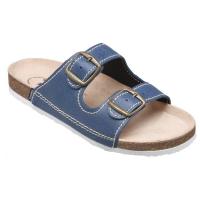 SANTÉ Dámske šľapky modré 1 pár, Veľkosť obuvi: 35