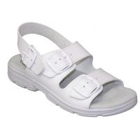 SANTÉ Dámske sandále biele 1 pár, Veľkosť obuvi: 36