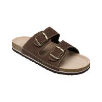 SANTÉ Pánske šľapky hnedé 1 pár, Veľkosť obuvi: 43