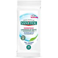 SANYTOL Antialergénne dezinfekčné & čistiace univezálne utierky 24 ks