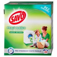 SAVO Bez chlóru Universal Prací prášok 20 pracích dávok