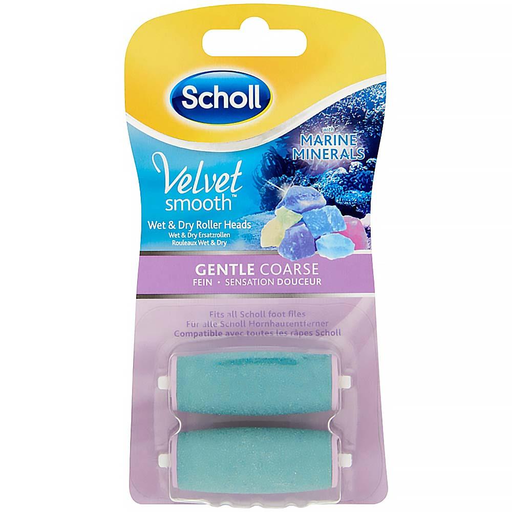 SCHOLL náhradné valčeky do elektrického pilník na chodidle Wet & Dry hrubej 2 ks